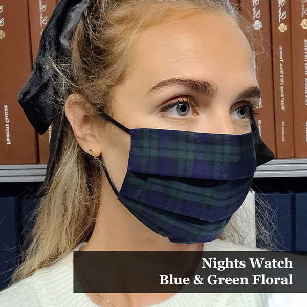 Nights Watch Blue & Green Floral